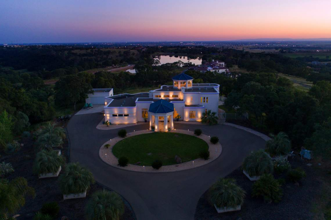 Night View of the Sacramento Region from Loomis Estate