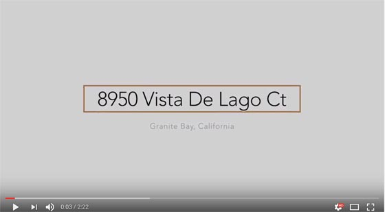 Youtube front page - 8950 Vista De Lago Court - Granite Bay