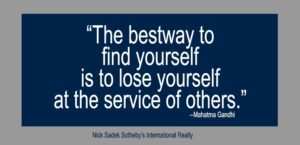 Quote - The bestway to find yourself is to serve - Mahatma Gandhi