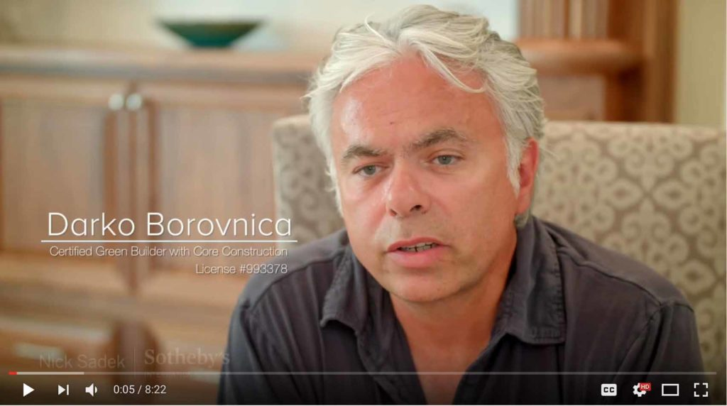 YouTube Video of Green Home Designer Darko Borovnica