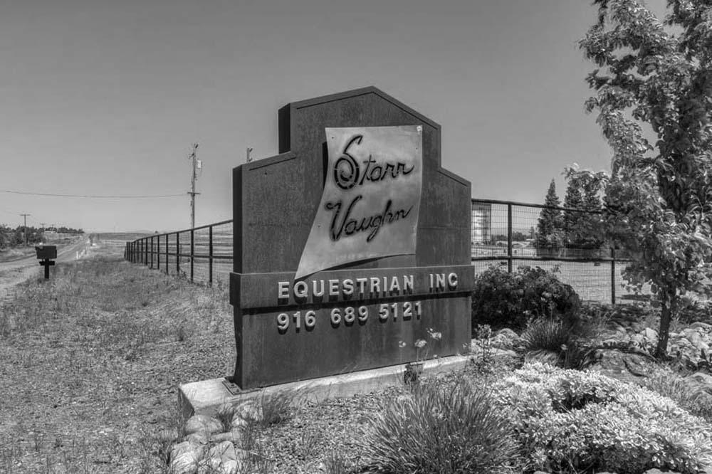 Starr Vaughn Equestrian Center along a Sacramento country road.