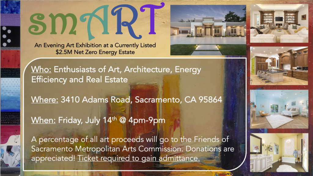 Art show at Net-Zero Custom Home in Sacramento