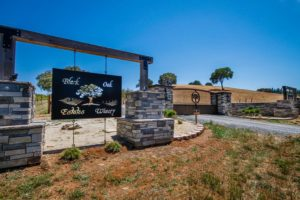 Blue Oaks Estates Winery - gated entrance