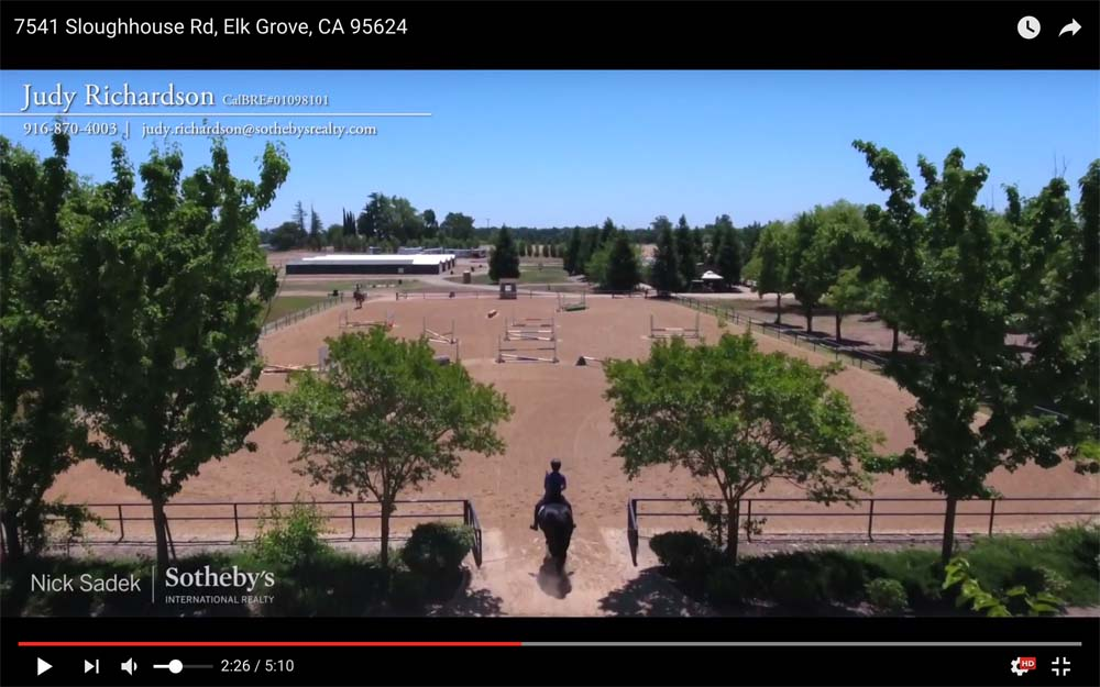 Watch this YouTube video to see highlights of equestrian facility