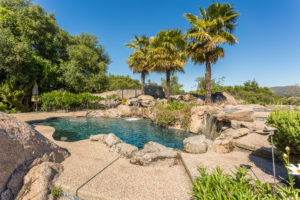 Backyard with pool and views of Folsom Lake - 8950 Vista De Lago