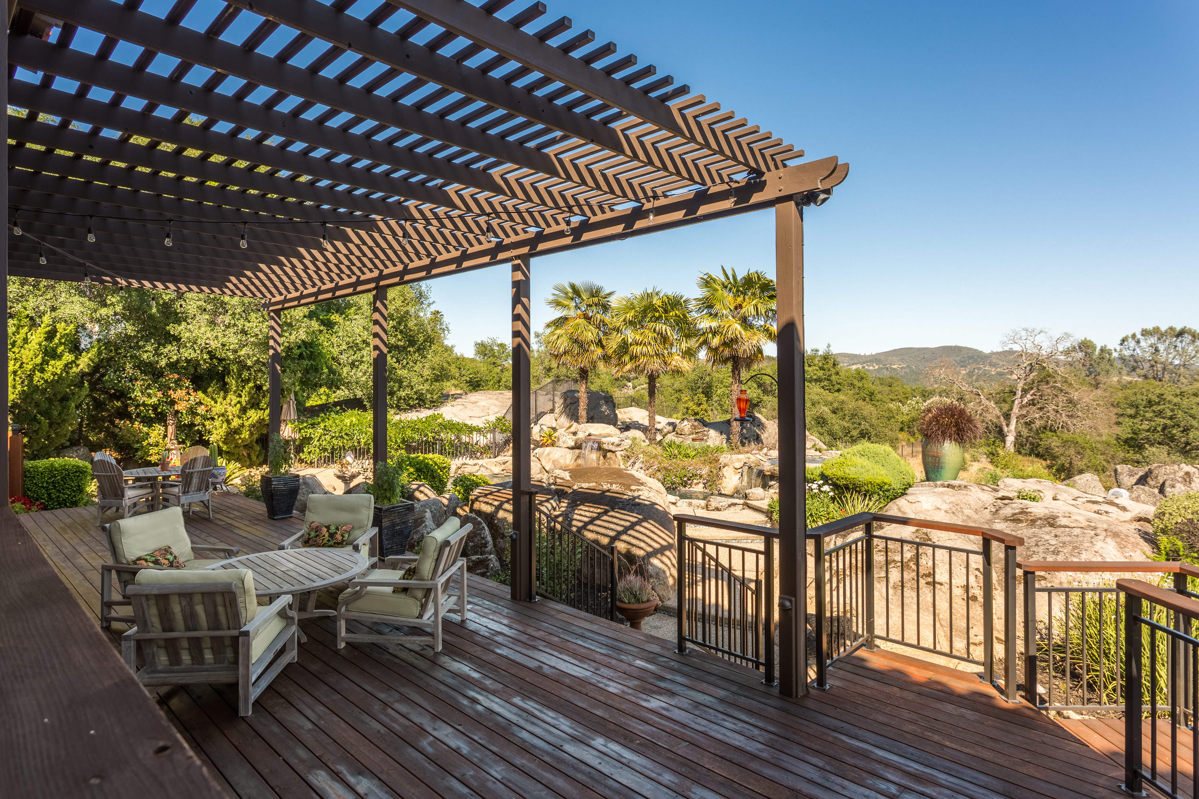 Upper Balcony/Porch with views of Folsom Lake