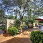 Enter gates to private courtyard and lap pool