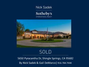 Recently sold by Nick Sadek Sotheby's International Realty