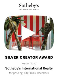Sotheby's International Realty Wins YouTube's Silver Creator Award