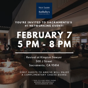 revival at kimpton sawyer networking event