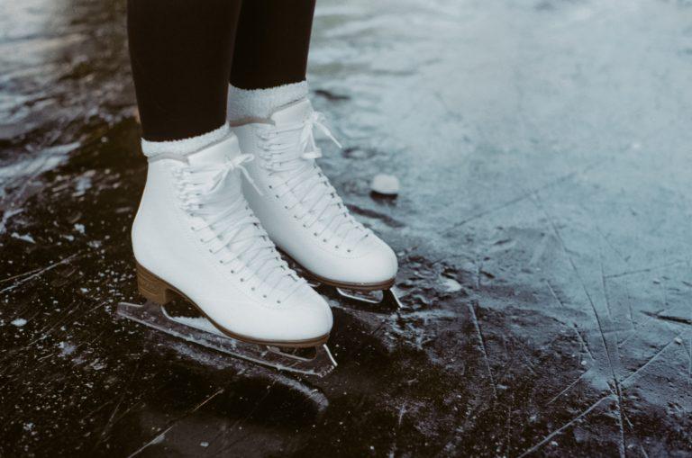 woman ice skates